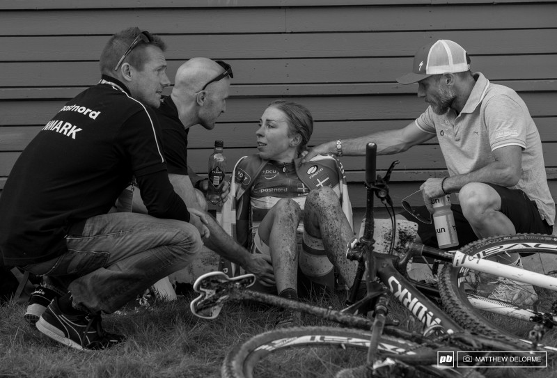 This picture very well captures everything from the race in Hafjell. Exhausted and disappointed